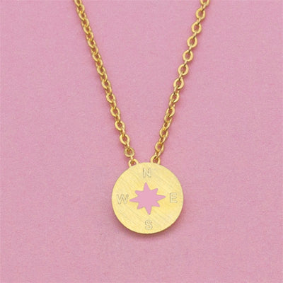 Dainty Compass and North Star Necklace - Miss Grandeur