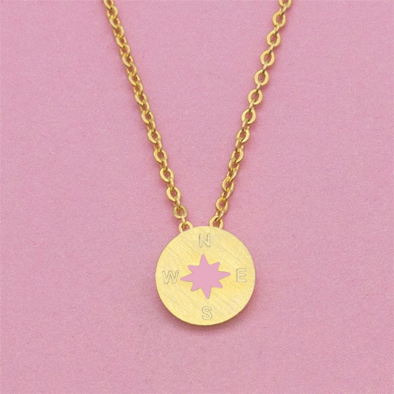 Dainty Compass and North Star Necklace