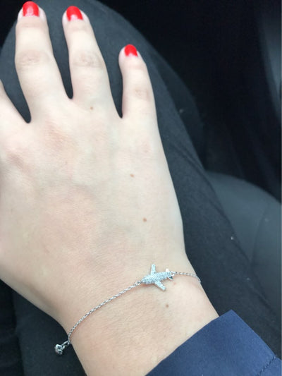 Crystal Airplane Bracelet - Miss Grandeur