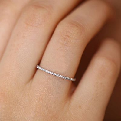 Micro Pave Crystal Eternity Ring