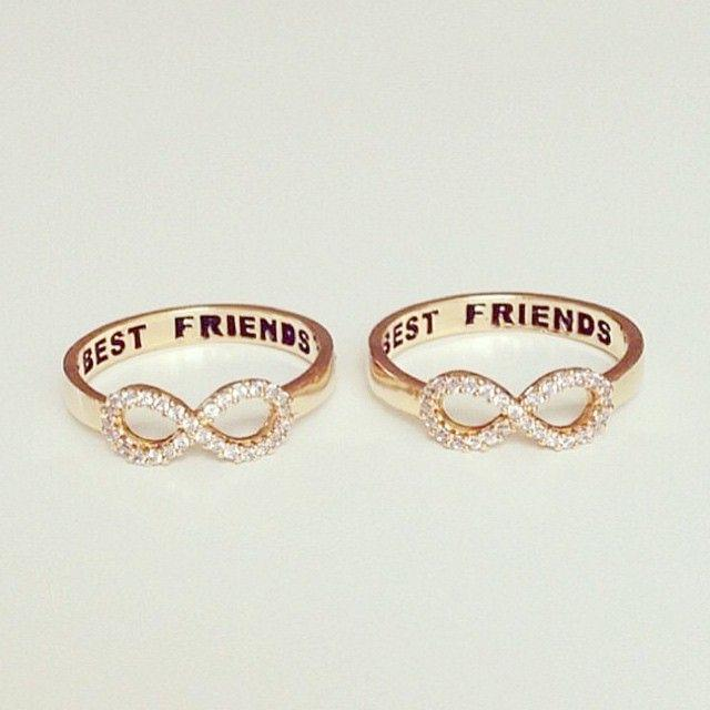 Best Friends Crystal Ring