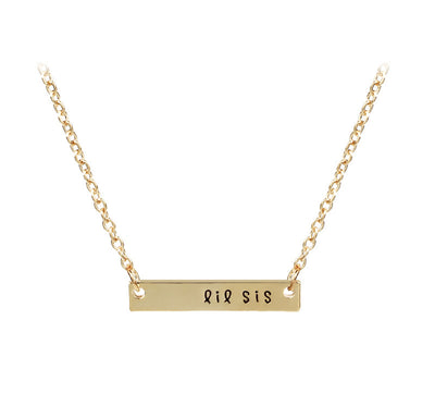 Three Sister Bar Necklace