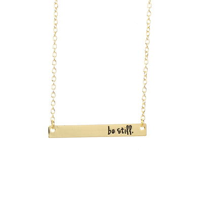 Be Still Bar Necklace - Miss Grandeur