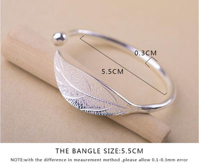 Open Leaf Bangle - Miss Grandeur