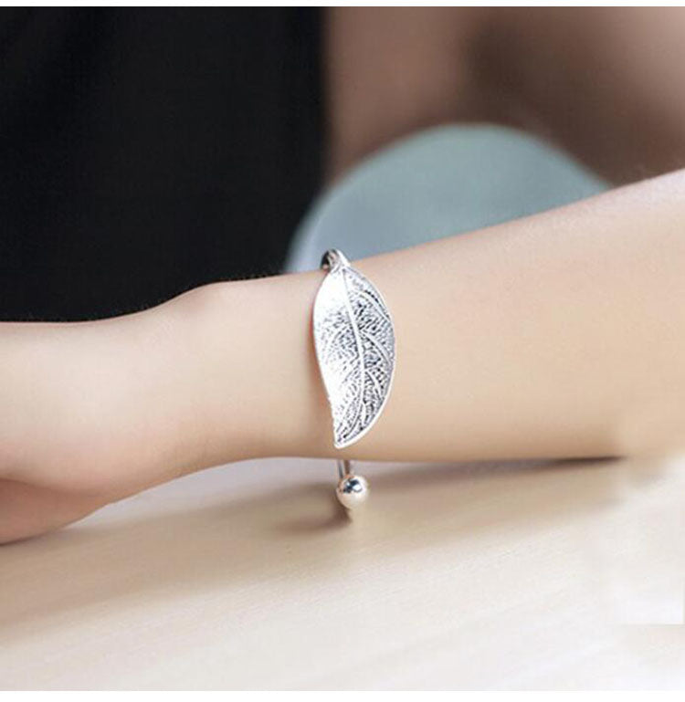 Open Leaf Bangle