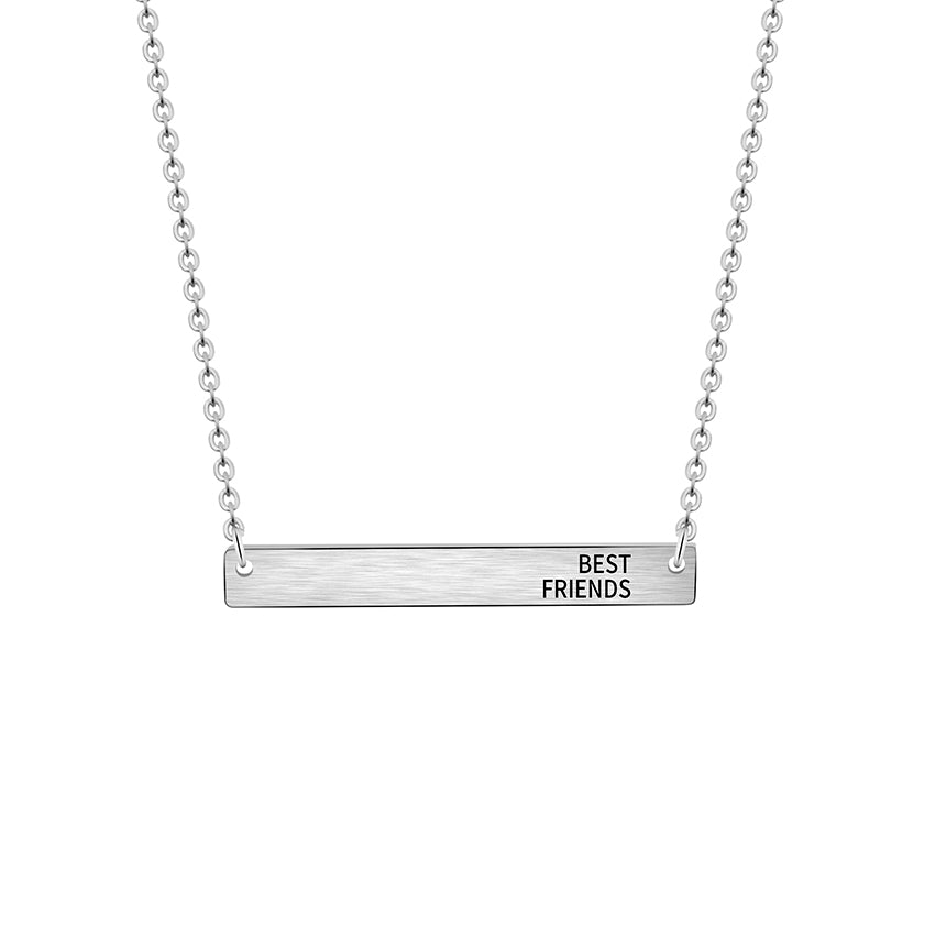 Best Friends Bar Necklace - Miss Grandeur