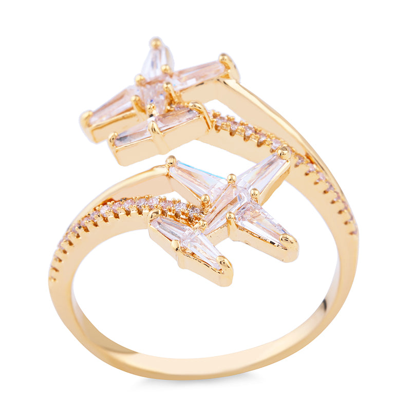 Crystal Airplane (Plane) Ring