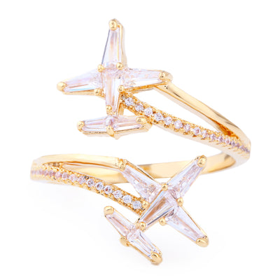 Crystal Airplane (Plane) Ring - Miss Grandeur