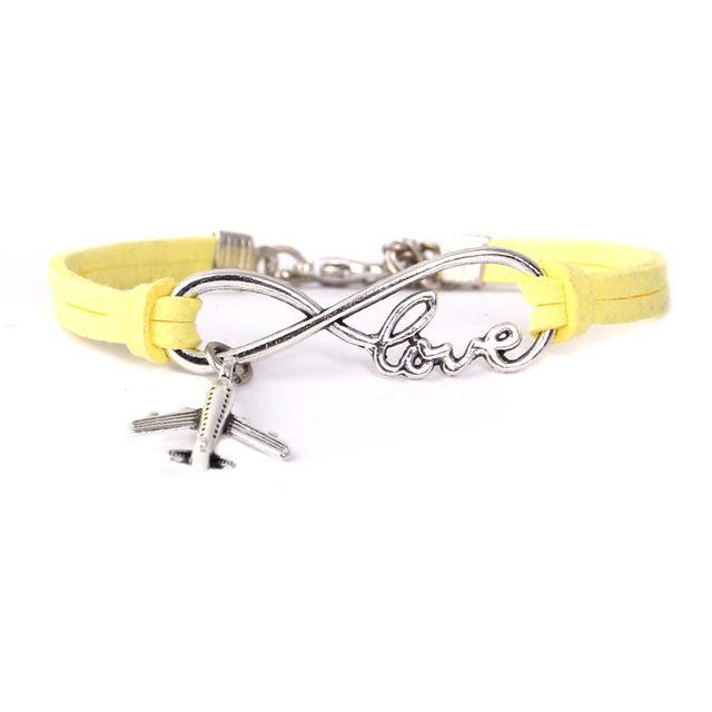 Airplane Love Bracelet