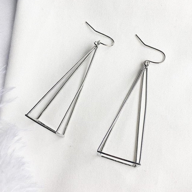 Geometric 3D Pyramid Earrings - Miss Grandeur