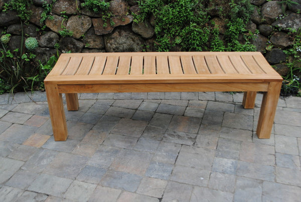 5' Backless Garden Bench