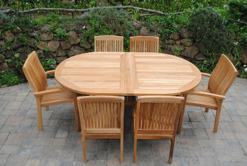 Oval Double Ext Table 83-118""