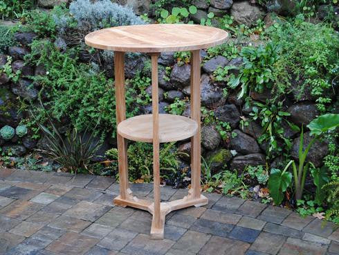 Round Bar Table W/ Shelf