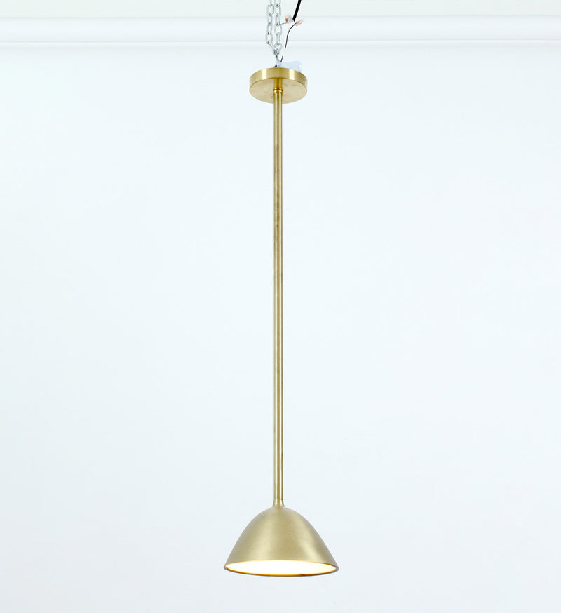 Landscape Pendant - Small - Satin Brass