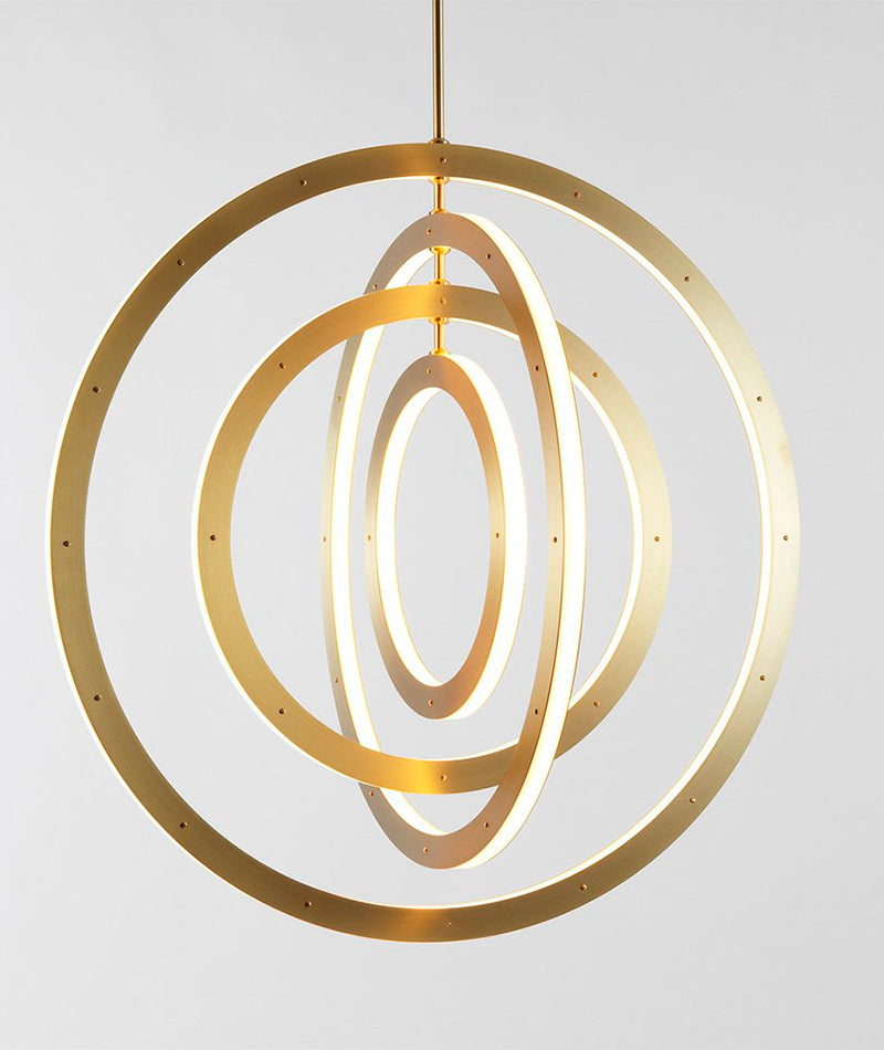 Halo Chandelier - Vertical, 4 Rings
