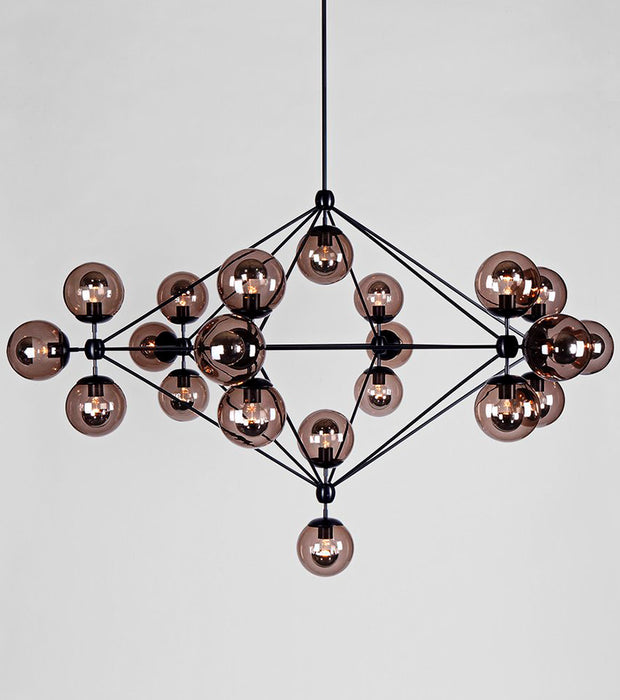 Modo Chandelier - 6 Sided, 21 Globes