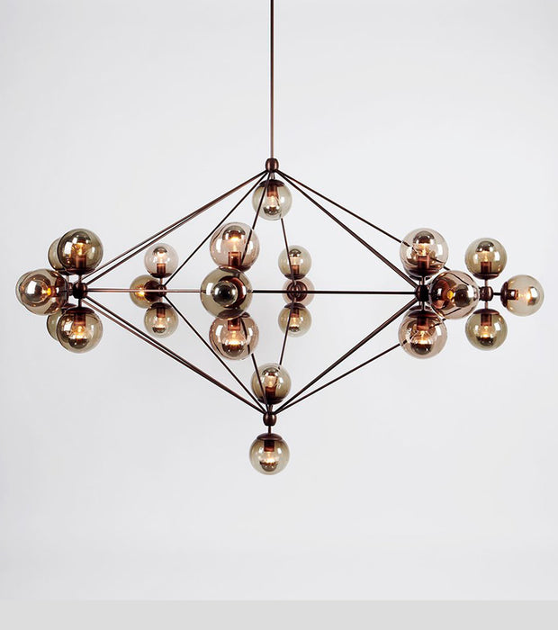 Modo Chandelier - 8 Sided, 27 Globes