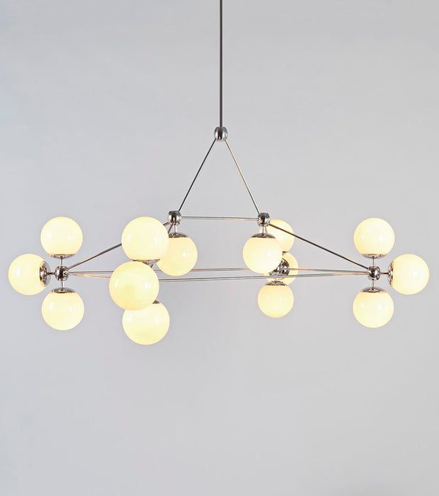 Modo Chandelier - Rectangle, 14 Globes