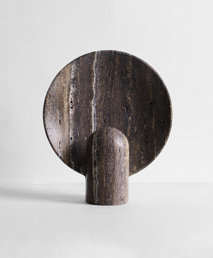 Surface Sconce Black Travertine