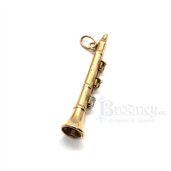 14Kt Gold Clarinet Charm