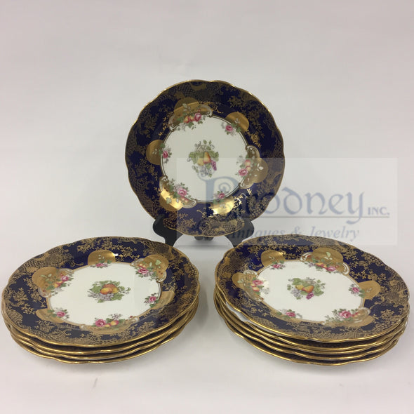 Set of 10 Aynsley Porcelain Plates