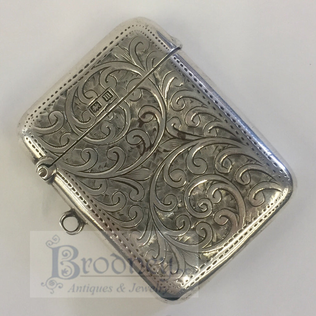 Sterling Silver English Match Safe