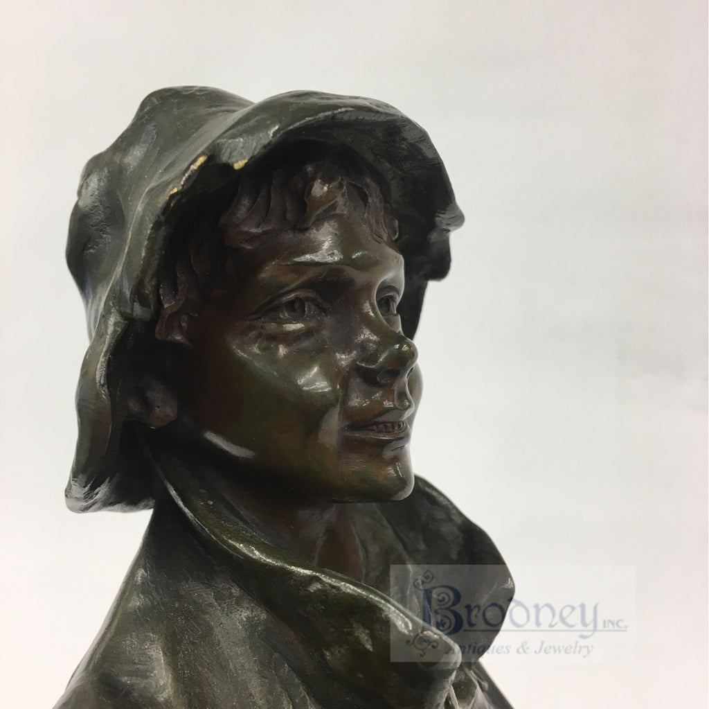 Jose Cardona Furro Bronze Sculpture of a Boy