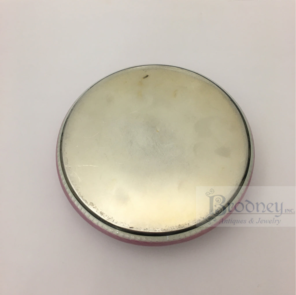 Swiss Silver and Enamel Round Box