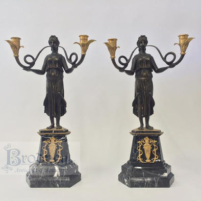 french-ornate-bronze-candlesticks-antique