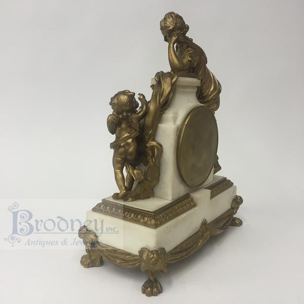 french-bronze-marble-three-piece-clock-set-antique-7