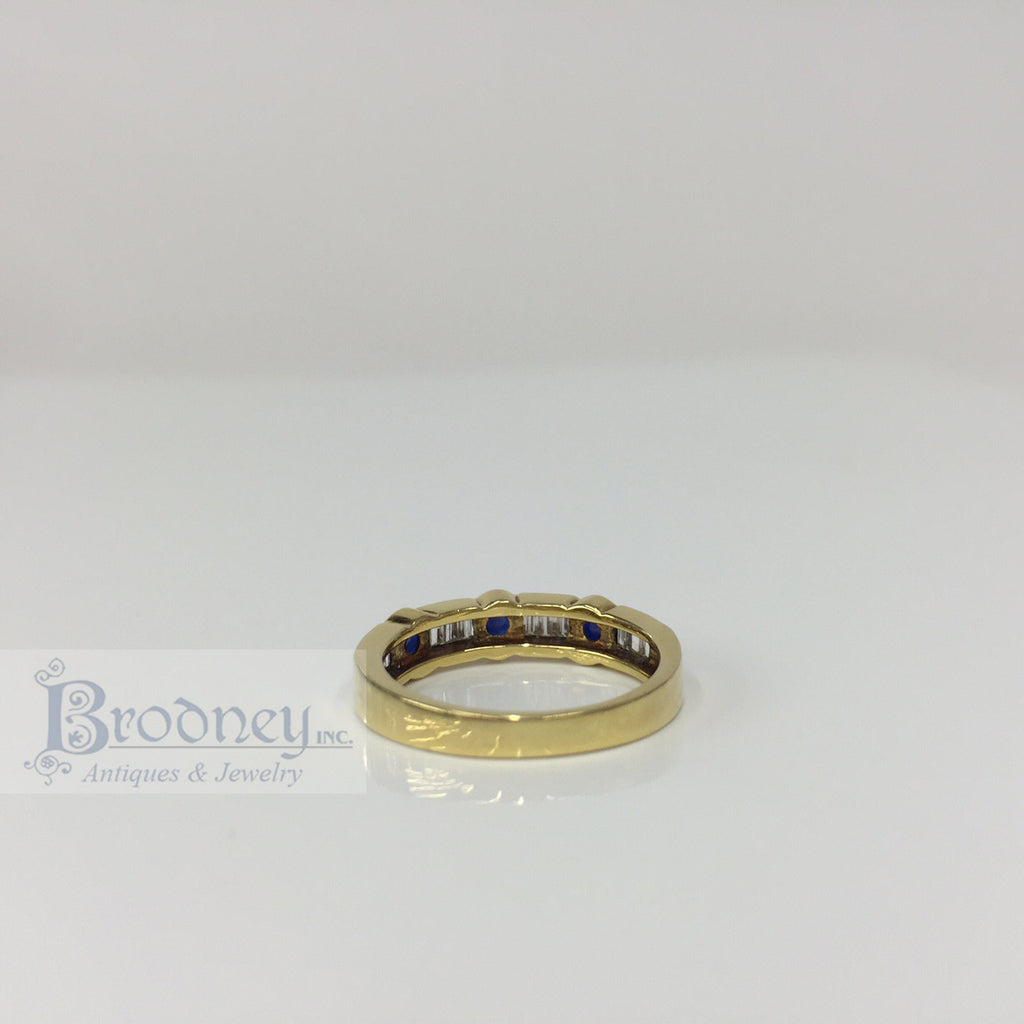 SPARK 18kt Gold Sapphire and Diamond Band