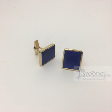14kt-gold-and-lapis-cuff-links-fine-estate-jewelry