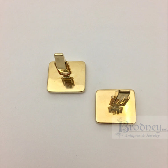 14kt Gold and Lapis Cuff Links
