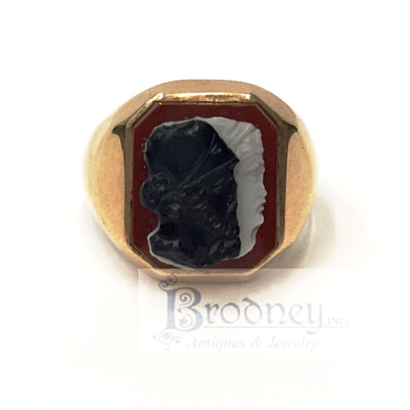Victorian Two faced cameo ring