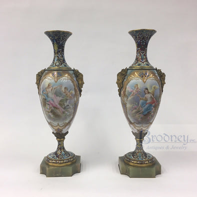 Pair of Sevres Vases