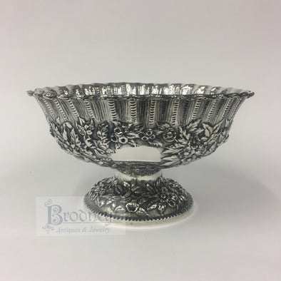 Sterling Silver Repousse Compote