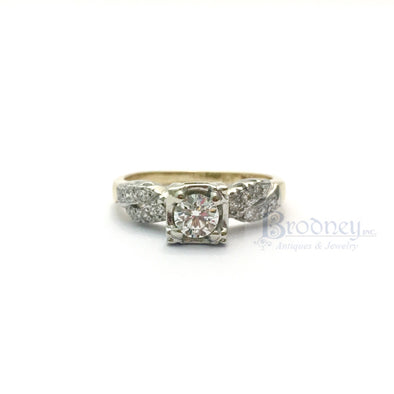 14kt-gold-and-diamond-engagement-ring-fine-estate-jewelry