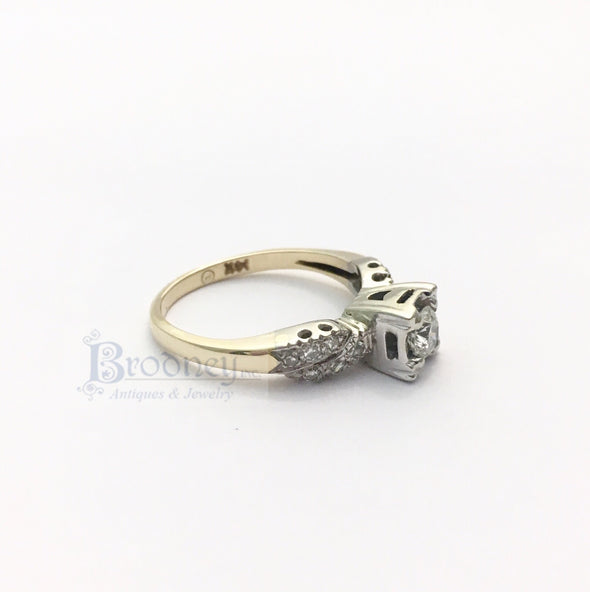 14kt Gold and Brilliant Cut Diamond Engagement Ring