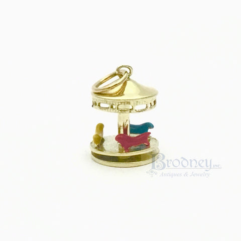 14kt Gold Charm of Three Children