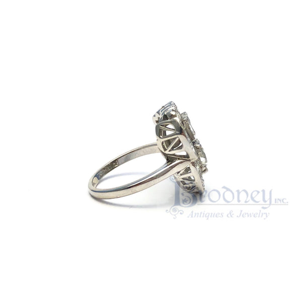 Retro Platinum and Diamond Ring