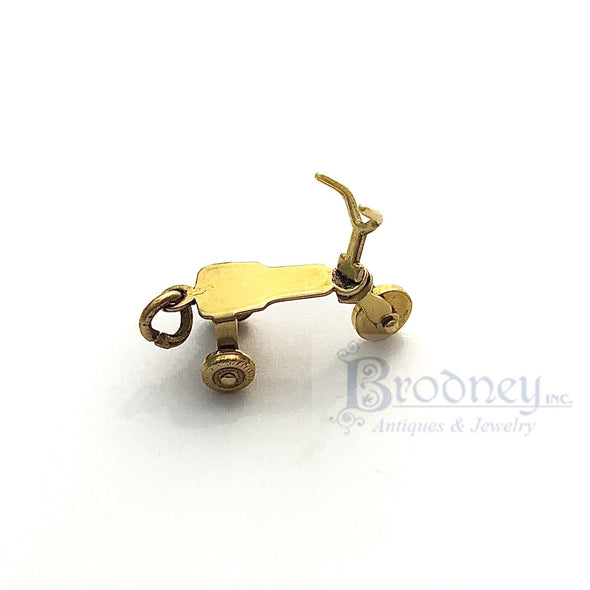 14kt Gold Tricycle Charm