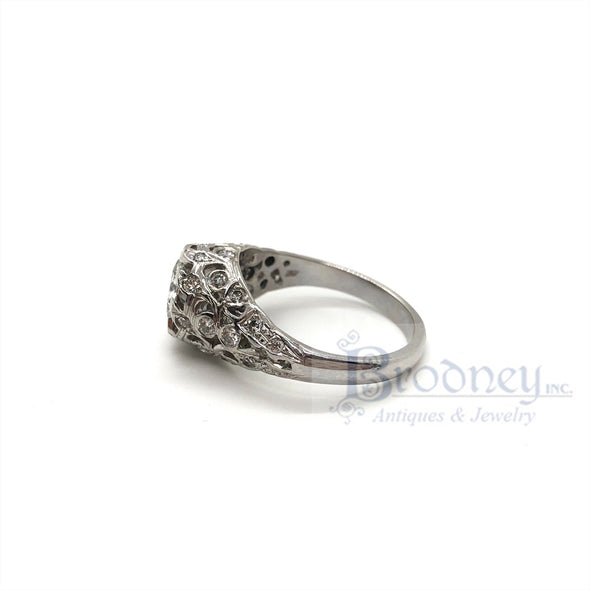 Platinum and Brilliant Cut Diamond Engagement Ring