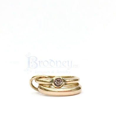 14kt Yellow Gold Wedding Rings Charm