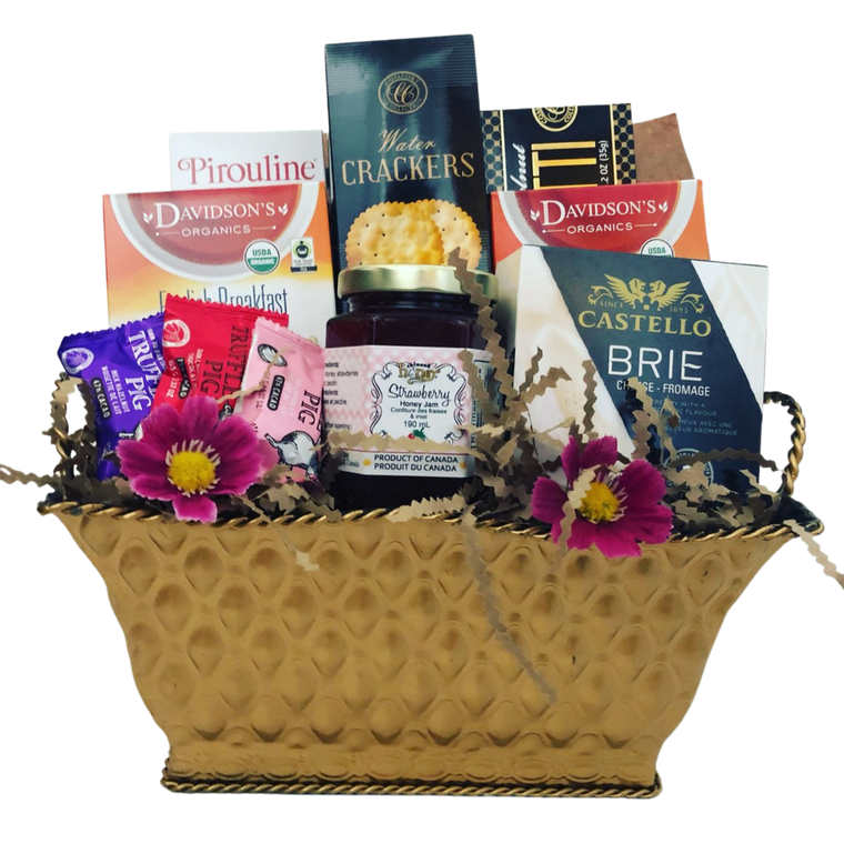 Tea & Crackers Gift Basket
