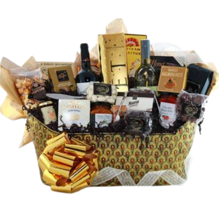 Ultimate Indulgence Wine Gift Basket