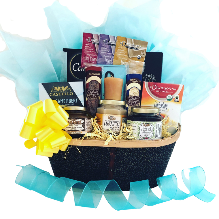 Sweet as Honey Tea and Crackers Gift Basket