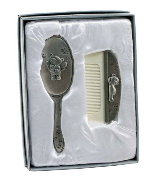*Silver Brush & Comb Set