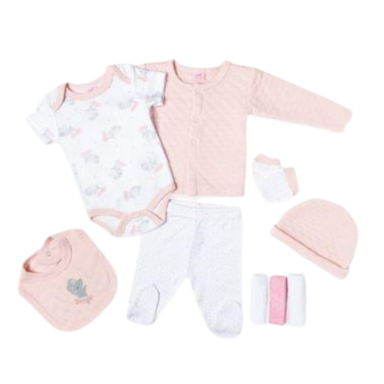 Quilted Nine Piece Set - Ballerina Mouse