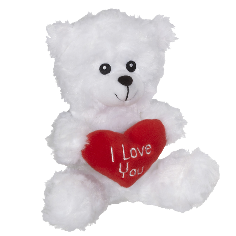 *I Love You Teddy Bear White