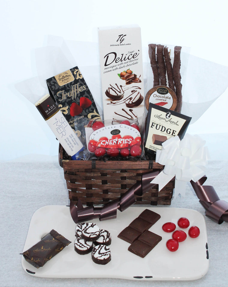 Fancy Treats Chocolate Gift Basket